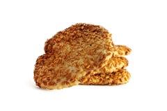 Biscotti su bianco Fotografia Stock Libera da Diritti
