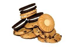 Biscotti su bianco Fotografie Stock