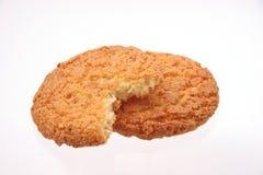 Biscotti su bianco Fotografie Stock Libere da Diritti