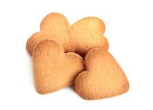 Biscotti su priorità bassa bianca Fotografie Stock