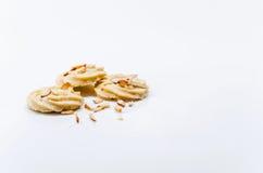 Biscotti su priorità bassa bianca Immagini Stock Libere da Diritti