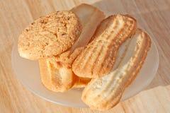 Biscotti su un piattino Fotografia Stock