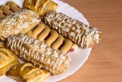 Biscotti su una zolla Fotografia Stock Libera da Diritti
