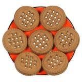 Biscotti sul piattino Fotografia Stock