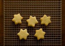 Biscotti sulla cremagliera di raffreddamento Fotografia Stock Libera da Diritti