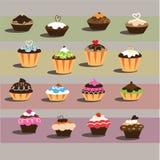 Biscotti sulla linea del dessert Fotografia Stock