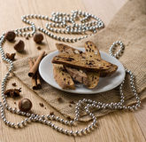 Biscotti - traditional Italian Christmas sweet Stock Photography
