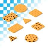 Biscotti tradizionali isometrici Fotografia Stock Libera da Diritti