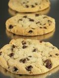 Biscotti in una riga fotografia stock