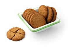 Biscotti in una zolla quadrata fotografia stock