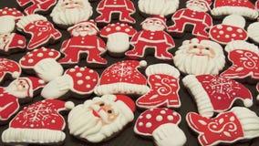 Biscotti variopinti casalinghi unici raccolta, pan di zenzero di Natale e dei nuovi anni Fotografia Stock Libera da Diritti