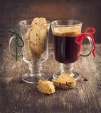 Biscotti with walnuts. Stock Photo