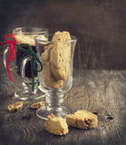 Biscotti with walnuts. Royalty Free Stock Photos