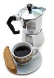 Biscotti y café foto de archivo libre de regalías