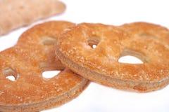 Biscotto al forno saporito delle ciambelline salate Fotografie Stock