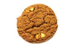 Biscotto con il burro di pepita di cioccolato, l'anacardio ed il miele conditi fotografia stock