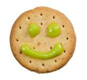 Biscotto con il fronte di smiley Fotografia Stock Libera da Diritti