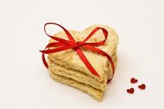 Biscotto del biglietto di S. Valentino Fotografie Stock