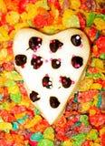 Biscotto del biglietto di S. Valentino fotografia stock