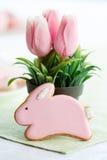 Biscotto del coniglietto di pasqua Immagine Stock Libera da Diritti