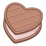 Biscotto del cuore Fotografie Stock