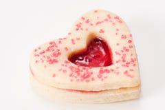 Biscotto del cuore Fotografie Stock Libere da Diritti