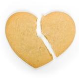 Biscotto del cuore rotto Fotografia Stock
