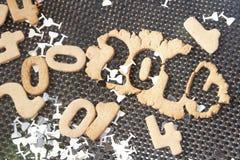 Biscotto 2014 del nuovo anno Immagine Stock Libera da Diritti