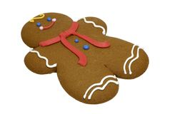 Biscotto del pan di zenzero fotografia stock