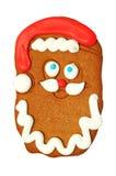Biscotto del pan di zenzero del Babbo Natale Fotografia Stock Libera da Diritti