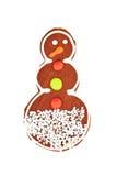Biscotto del pan di zenzero di Natale isolato su bianco Fotografia Stock
