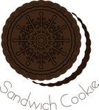Biscotto del panino della crema e del cioccolato Fotografie Stock
