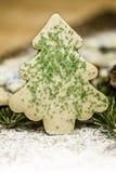 Biscotto dell'albero di Natale Fotografia Stock