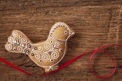 Biscotto dell'uccello del pan di zenzero Fotografia Stock Libera da Diritti