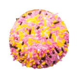 Biscotto della caramella gommosa e molle con Sugar Sprinkles variopinto Fotografia Stock