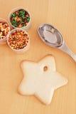Biscotto della stella Fotografie Stock