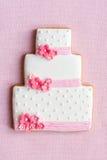 Biscotto della torta di cerimonia nuziale Immagini Stock Libere da Diritti