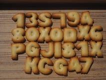 Biscotto di alfabeto Fotografia Stock Libera da Diritti