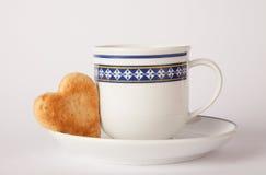 Biscotto di forma del cuore Fotografie Stock Libere da Diritti