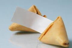 Biscotto di fortuna in bianco Fotografia Stock