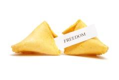 Biscotto di fortuna di libertà Fotografie Stock Libere da Diritti
