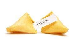 Biscotto di fortuna di successo Immagini Stock