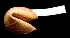 Biscotto di fortuna - il nero Fotografie Stock Libere da Diritti