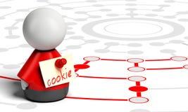 Biscotto di web o di Internet Fotografia Stock