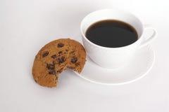 Biscotto e caffè Fotografie Stock Libere da Diritti