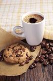 Biscotto e caffè Fotografia Stock Libera da Diritti