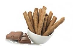 Biscotto e cioccolato fotografia stock