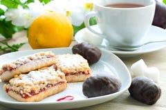 Biscotto e cioccolato Immagini Stock Libere da Diritti