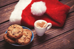 Biscotto e tazza di caffè Fotografia Stock