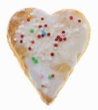 Biscotto in forma di cuore Fotografie Stock